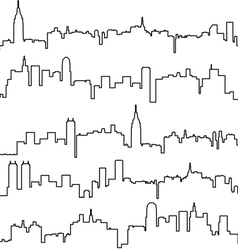 contours of buildings vector image