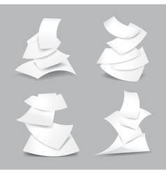 Falling paper sheets vector