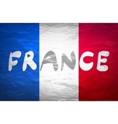 Grunge Flag Of France national vector image