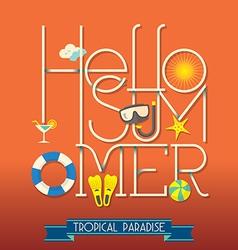 Hello Summer Typography vector image