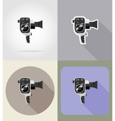 multimedia flat icons 11 vector image