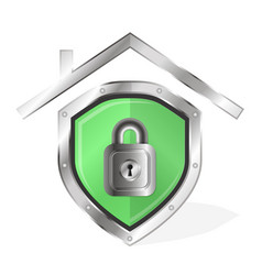 protecting home symbol vector image