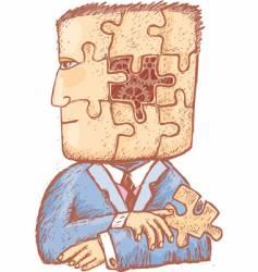 puzzle in my head vector image vector image