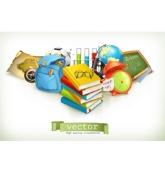 School on white vector image vector image