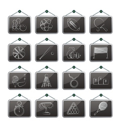 Sport equipment icons vector image vector image