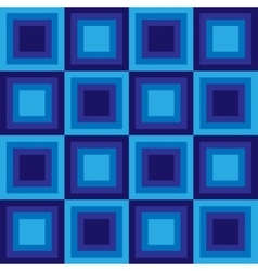 Squares floor seamless pattern blue colors vector image