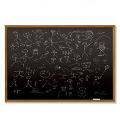 stick man blackboard vector image vector image