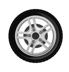 wheel and tire vector image vector image