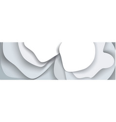 abstract background from gray paper layers vector image