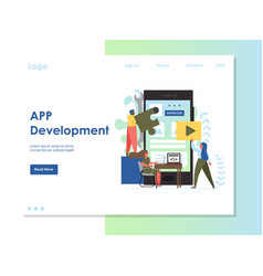 app development website landing page design vector image