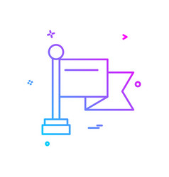 award badge champion flag icon design vector image