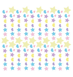 background colored stars hearts love romance vector image