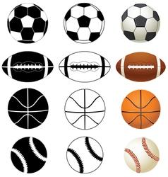 Balls black a white color vector
