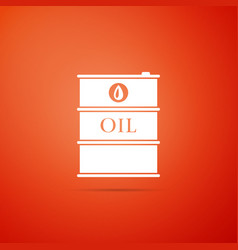 barrel oil icon isolated on orange background vector image