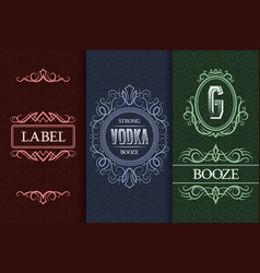 beverage packaging design set alcohol drink vector image