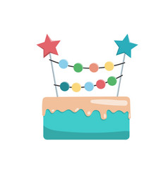 big cake happy birthday vector image