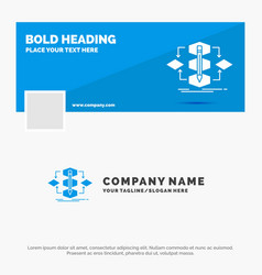 blue business logo template for algorithm design vector image