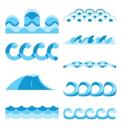 Blue waves elements vector image
