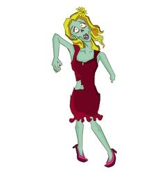 Broken handed Zombie vector image