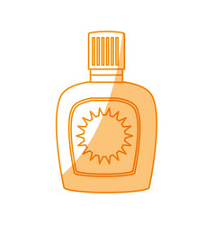 bronzer bottle isolated vector image