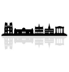 bruxelle skyline vector image