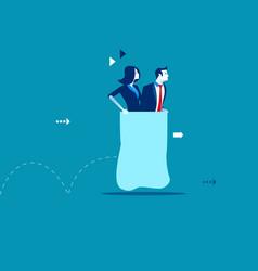 business partners sack race concept business vector image