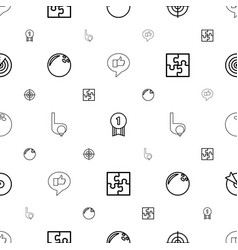 challenge icons pattern seamless white background vector image