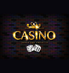 Chic casino sign vector
