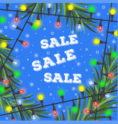 christmas sale concept for your design vector image