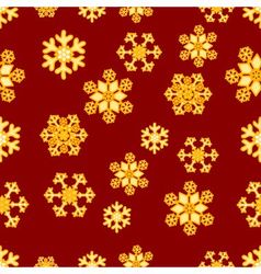 Christmas seamless pattern of gold snowflakes vector