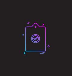 Clip board paper-board page paper icon desige vector