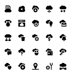 Cloud Data Technology Icons 3 vector