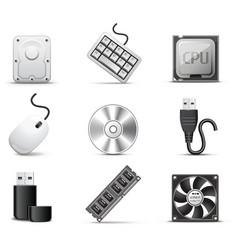 computer parts bw series vector image