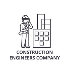 construction engineers company line icon vector image