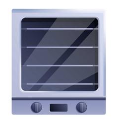 Cooker con oven icon cartoon style vector
