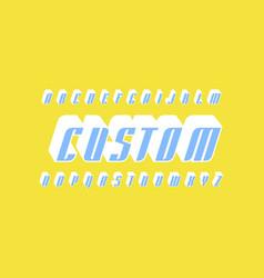 Decorative italic sans serif bulk font vector
