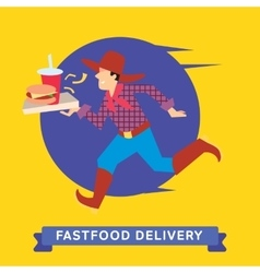delivery fast food vector image
