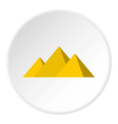 Egyptian giza pyramids icon circle vector