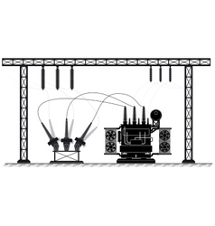 Electrical substation The high-voltage vector image