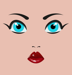 Eyes mouth and nose a dolls vector