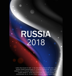 flag russia brochure design vector image
