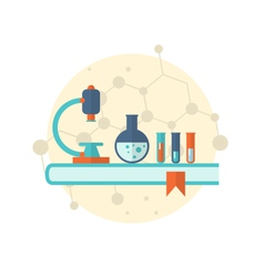 flat icon of objects chemical laboratory vector image