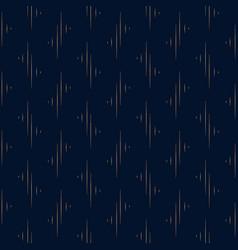 geometric pattern gold on dark blue background vector image