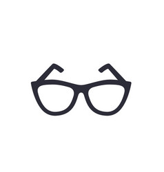 glasses icon on white vector image