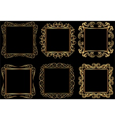 Golden frames vector