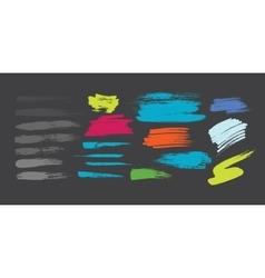 Grunge hand drawn brush stroke set vector image