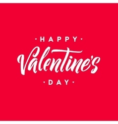 Happy Valentine s Day Hand Lettering Greeting vector