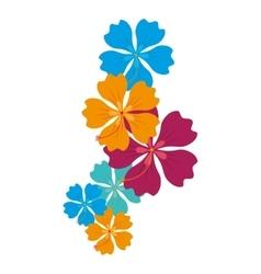 hawaii floral decoration icon vector image