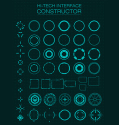 Hi-tech interface constructor design elements for vector