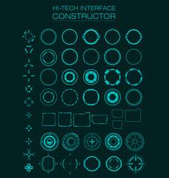 Hi-tech interface constructor design elements vector